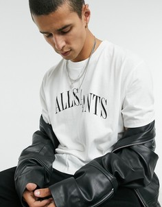 Белая футболка с логотипом AllSaints-Белый