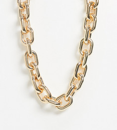 Золотистое массивное ожерелье-цепочкаASOS DESIGN Curve-Золотой
