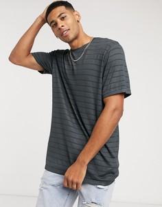 Серая сетчатая футболка Topman-Серый