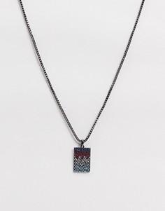 Ожерелье-цепочкас разноцветными стразами на подвеске Uncommon Souls-Серый