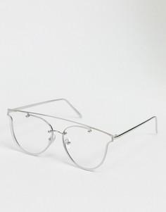 Круглые очки с серебристой оправойJeepers Peepers-Серебряный