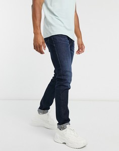 Темные узкие джинсы Diesel-Синий