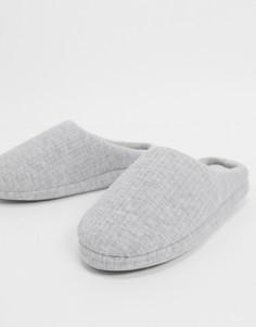 Серые меланжевыеслиперыASOS DESIGN-Серый