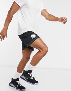 Черные баскетбольные шорты New Era NBA-Черный
