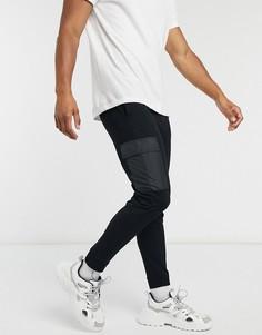 Черные джоггеры-карго с контрастными карманами The Couture Club-Черный