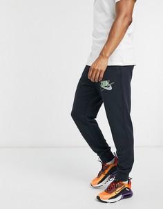 Черные джоггеры с манжетами Nike Retro Pack-Черный