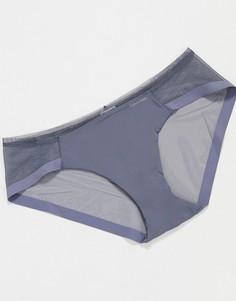 Серые боксеры-брифы с сеткой Calvin Klein-Серый