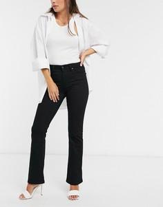 Черные джинсы с легким клешем и завышенной талиейLevis725-Черный