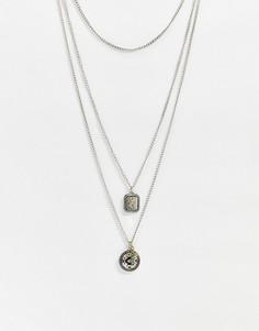 Двойное ожерельеBershka-Серый