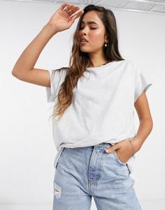 Белая меланжевая oversized-футболка ASOS DESIGN-Белый