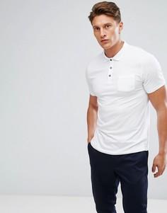 Белое эластичное поло Burton Menswear-Белый