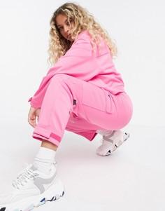 Розовые джоггеры с карманами в стиле милитари и логотипом Nike-Розовый