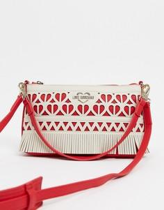 Ажурная сумка на плечо цвета слоновой кости Love Moschino-Кремовый
