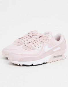 Светло-розовые кроссовки Nike Air Max 90-Розовый