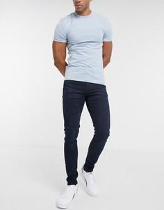 Темные суженные джинсы скинни Levis-Синий
