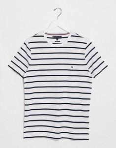 Белая футболка узкого кроя в полоску Tommy Hilfiger-Белый