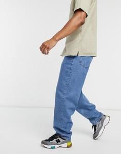 Голубые свободные джинсы ASOS DESIGN-Голубой