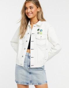 Белая джинсовая куртка Quiksilver-Белый