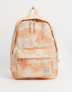 Рюкзак персикового цвета с принтомHerschel Supply Co-Оранжевый