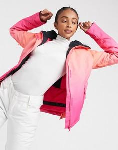 Розовая лыжная куртка с эффектом деградеRoxyJetSki-Розовый