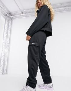 Черные джоггеры в стиле милитари Nike-Черный