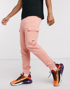 Бледно-оранжевые джоггеры карго с манжетами Nike Pastel Pack-Оранжевый