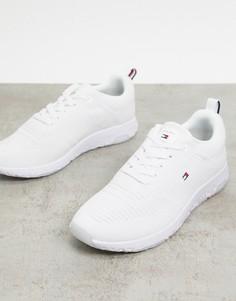 Белые трикотажные кроссовки с логотипом Tommy Hilfiger-Белый
