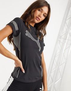 Черная бесшовная футболка с короткими рукавами Puma Training-Черный