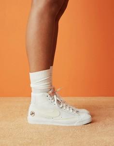 Белые кроссовки Nike Blazer Mid 77-Белый