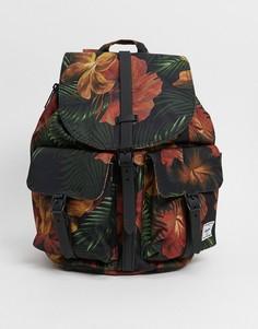 Черный рюкзак с тропическим цветочным принтом Herschel Supply Co