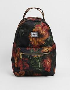 Черный рюкзак с тропическим принтом Herschel Supply Co Nova