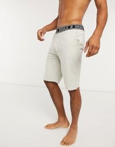 Серые свободные трикотажные шорты SikSilk-Серый