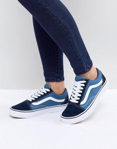 Синие кроссовки Vans Classic Old Skool-Синий