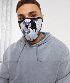 Маска для лица из неопрена с камуфляжным принтомWFTW-Черный