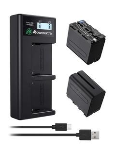 Зарядное устройство Powerextra NP-F970+2 аккумулятора 21276