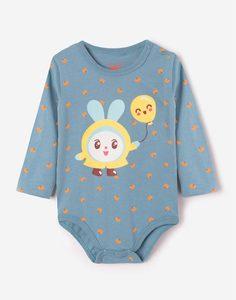 Бирюзовое боди «Малышарики» для малыша Gloria Jeans