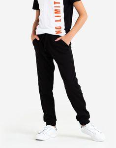 Чёрные спортивные брюки-джоггеры для мальчика Gloria Jeans
