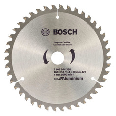 Пильный диск BOSCH ECO ALU, по алюминию, 160мм, 1.4мм, 20мм [2608644388]