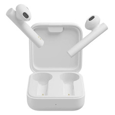 Наушники с микрофоном XIAOMI Mi True Wireless Earphones 2 Basic, Bluetooth, вкладыши, белый [bhr4089gl]