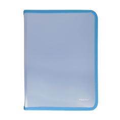 Упаковка папок для тетрадей SILWERHOF Gems 671963, A4, 250х320х25мммм, 1 отделение, пластик, на молнии 5 шт./кор.