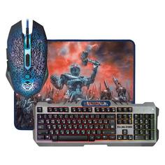 Комплект (клавиатура+мышь) DEFENDER Killing Storm MKP-013L, USB 2.0, проводной, серый [52013]