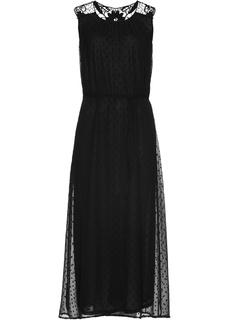 Длинные платья Платье с кружевной отделкой Bonprix