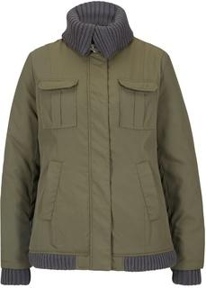 Зимняя куртка с вязаными деталями Bonprix