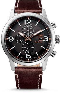 Японские наручные мужские часы Citizen CA0740-14H. Коллекция Eco-Drive