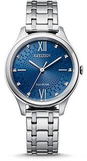 Японские наручные женские часы Citizen EM0500-73L. Коллекция Eco-Drive
