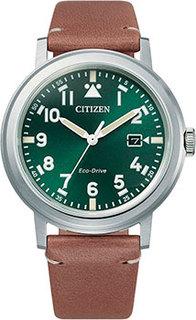 Японские наручные мужские часы Citizen AW1620-13X. Коллекция Eco-Drive