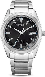 Японские наручные мужские часы Citizen AW1640-83E. Коллекция Eco-Drive