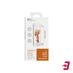 Защитное стекло с рамкой InterStep 3D для iPhone 8 Plus, белый (IS-TG-IPHO8P3DW-000B202)
