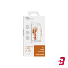 Защитное стекло с рамкой 3D InterStep Full Screen для Apple iPhone 8, White (IS-TG-IPHON83DW-000B202)