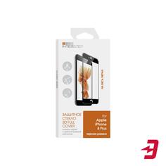 Защитное стекло с рамкой InterStep 3D для iPhone 8 Plus, черный (IS-TG-IPHO8P3DB-000B202)